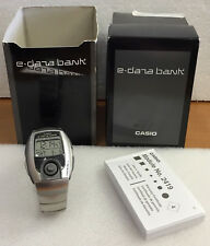 Rare Vintage CASIO EDB-201 #2419 E-Data Bank World Time Watch, LCD Illuminator