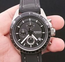 NEW OLD STOCK FOSSIL DECKER CH2573 CHRONOGRAPH DATE SILICONE STRAP QUARTZ WATCH