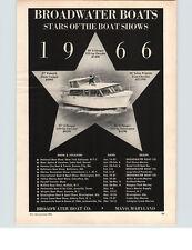 1966 PAPER AD 4 PG Broadwater Motor Boat Mayo Maryland 27' 36' Salon Express