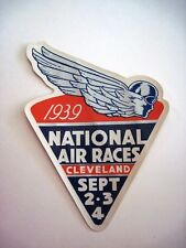 """1939 """"National Air Races"""" Decal w/ Ad for """"Leisys Beer On Back*"""