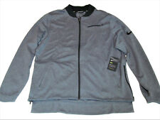 NWT NIKE Mens Size XL Grey DRI-FIT Basketball Zippered Jacket #830833-010 $125