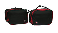 Pannier Liner Bags for BMW Motorbike R1200RT Expandable (Red/Black) Pair