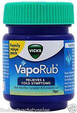 10 x Vicks Vaporub Ointment 50gm Vaporizing blocked Nasal cough headache Relief