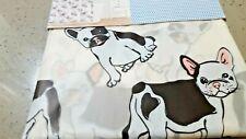 TRULY BATH FRENCH BULL DOG BULLDOG  PEVA VINYL SHOWER CURTAIN  LINER  70X72