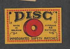 Ancienne étiquette   allumettes Belgique GH104  Disc 1