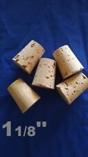 CORK stopper plug round tapered style crafts fishing lab wine all natural*1-1/8*