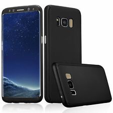 360° Full Body Protective Hybrid Case Cover +Tempered Glass For Samsung Galaxy