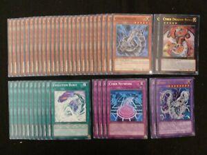 YU-GI-OH 44 CARD CYBER DRAGON NOVA / CYBER TWIN DRAGON DECK  *READY TO PLAY*