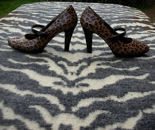 Sofft Ladies Leopard print High Heeled Leather Shoes UK size 6.5 EU 40