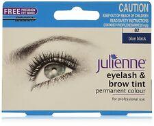 Julienne Cil and Sourcil Permanent Bleu Noir 02 Couleur Coloration 15ml