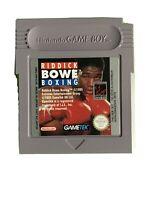 Riddick Bowe Boxing Nintendo Game Boy With Manual