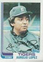 FREE SHIPPING-MINT-1982 (TIGERS) Topps #728 Aurelio Lopez (FACSIMILE AUTOGRAPH)