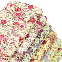 Cotton Print Fabric Fat Quarters Vintage Floral Retro Flower Dress Quilting VK70