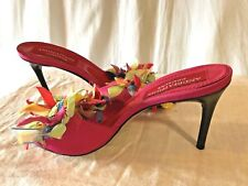 6a95b1c4e19 ANDREA PFISTER COUTURE Ribbon High Heel Sandals Shoes size 38 made in Italy