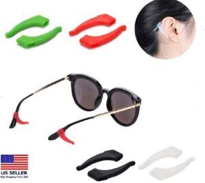 4 Pair Anti Slip Glasses Ear Hooks Tip Eyeglasses Grip Temple Holder Silicone US