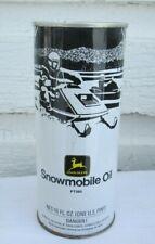 VINTAGE 1970'S JOHN DEER SNOWMOBILE OIL TIN  FULL PT560