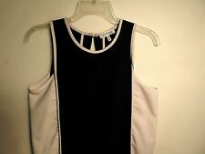MONTEAU Women's Sexy Black Dress with White Side Panels - Sz Med. - EUC
