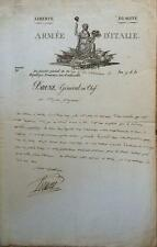 Guillaume Marie-Anne Brune- 1st Comte Brune- Signed Document from 1807