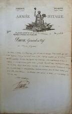Guillaume Marie-Anne Brune- 1st Comte Brune- Signed Document from 1807