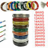 2Meter Silicone Wire Cable 10 12 14 16 18 20 24 26 28 AWG Tinned Copper Line