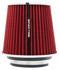 "Air Filter Fits 3"", 3.5"" & 4"" Diameter Inlet Tube Red Cone 8132 Pre-Oil ReUse"