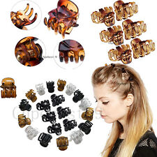 Mini Hair Clips Plastic Hair Claws Pins Clamps for Girls and Women Hair Combs