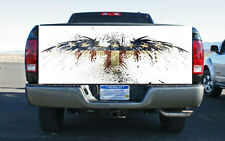 Red White Blue Eagle Flag Truck Tailgate Wrap Vinyl Graphic Decal Sticker Wrap