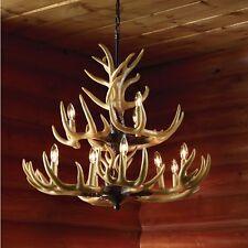 Twelve Light Deer Buck Antler Ceiling Chandelier Decorative Lighting - 36