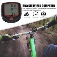 SUNDING Waterproof MTB Bicycle Bike Speedometer Cycling Digital Odometer Meter