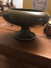Floraline McCoy USA 430 Green Pottery Bowl Compote Dish EUC Great Condition