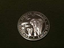 2015 1 oz Silver Somalian Elephant Coin - Brilliant Uncirculated