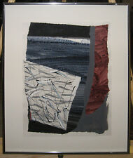 William Manning Abstract Collage Ptg Important Maine  & NY Contemporary Artist