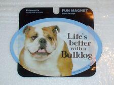 Bulldog LIFES BETTER Fridge Magnet