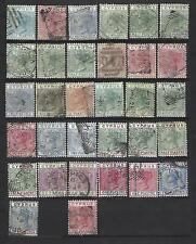 Cyprus.  Collection of 32 stamps, 1881 to 1896, Used.