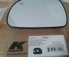K Source DRIVER Side Heated Replacement Mirror Glass with Backing Plate 33054