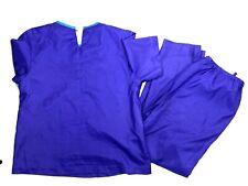 Vintage Joan Walters Womens Medium Top And Bottom Set Jumpsuit Purple Scrubs