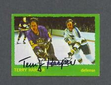 Terry Harper signed Los Angeles Kings 1973-74 Topps hockey card