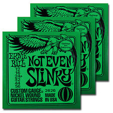 Ernie Ball Not Even Slinky Nickel Electric Guitar Strings 12-56 2626 3 SETS