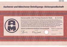 Aachener und Münchener Beteiligungs AG  50DM Aachen 1979