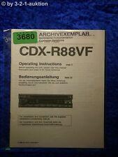 Sony Bedienungsanleitung CDX R88VF CD Player (#3680)