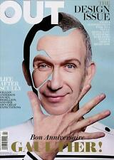 Out Magazine 4/12 gay Design Issue JEAN PAUL GAULTIER