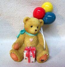 "Enesco Cherished Teddies Nina 1996 ""Beary Happy Wishes"" #215864"
