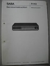 SABA  Mainau de luxe K Service Manual