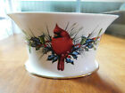 Lenox Oval Cachepot WINTER GREETINGS Red Cardinal C. McClung NEW in Box
