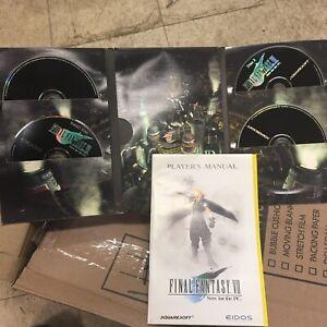 Final Fantasy VII (PC - Squaresoft/Eidos) 4-disc CD's w/Manual Booklet