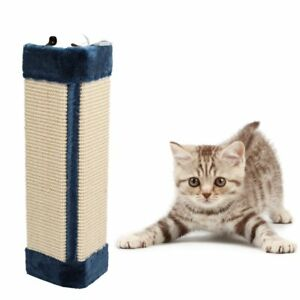 Pet Cat Kitten Corner Sisal Wall Scratcher Hanging Scratch Board Mat Soft Plush
