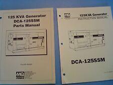 MQ Power DCA-125SSM  125KVA Generator Instruction & Parts Manuals