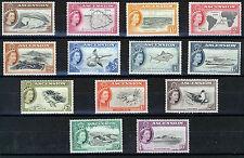ASCENSION 1956 DEFINITIVES SG57/69 MNH
