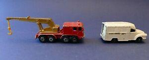 Lesney Lomas ambulance N°14 + Lesney Superfast wheel crane N°30