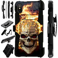 Lux-Guard For iPhone 6/7/8 PLUS/X/XR/XS Max Phone Case Cover SKULL FIRE
